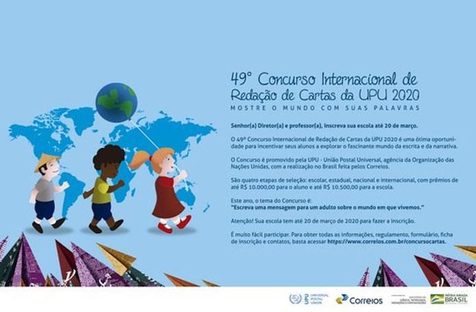 Concurso Internacional de Redação de Cartas: inscrições começam dia 10